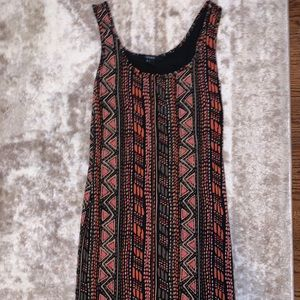 Size small patterned body con dress